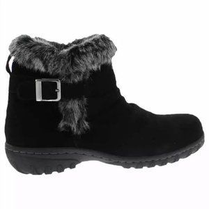Khombu Fur Lined All-Weather Suede Ankle Boots